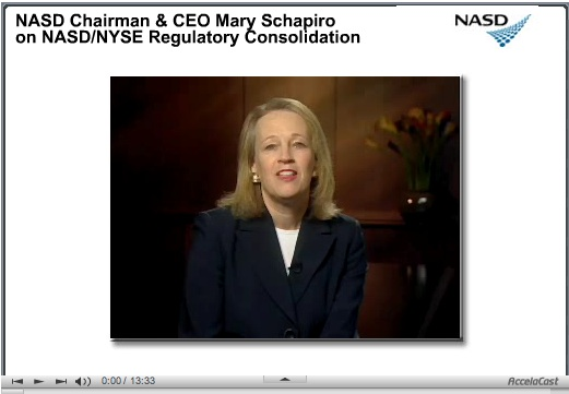 mary schapiro and leadership Mary schapiro is a seasoned regulator, but she missed madoff's ponzi scheme now, as sec boss, she intends to show the world she's tough enough to be wall street's top cop.