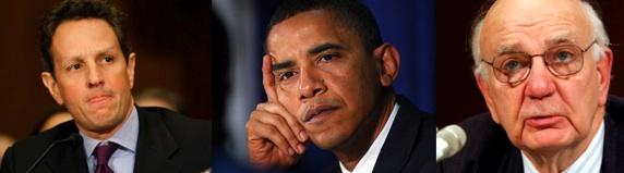 Geithner, Obama, Volcker