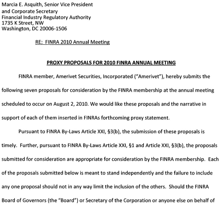 Finra Owes America Answers On These Proposals Sense On Cents